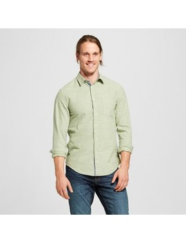 Men's Standard Fit Cotton Slub Solid Long Sleeve Button Down Shirt   Goodfellow & Co™ by Shop All Goodfellow & Co™