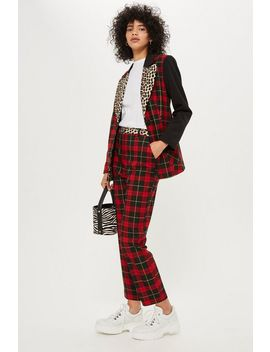 Mixed Tartan Check Trousers by Topshop