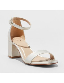 Women's Micahela Satin Mid Block Heel Pump Sandal   A New Day™ by Shop All A New Day™