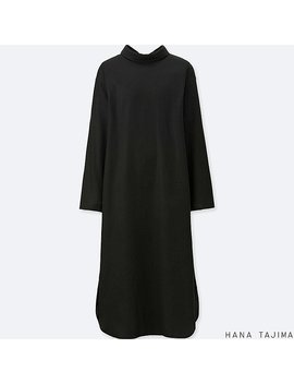 Women Hpj Mock Neck Long Sleeve Dress by Uniqlo