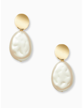 Gold Standard Large Pearl Drop Earrings by Kate Spade