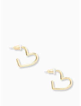 Scrunched Scallops Mini Heart Hoops by Kate Spade