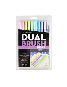 Tombow Dual Brush Pen Set 10 Pastel by Amazon