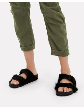 Arizona Double Buckle Black Sandals by Rick Owens X Birkenstock