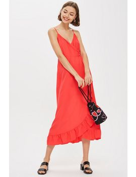 Ruffle Slip Midi Dress by Topshop