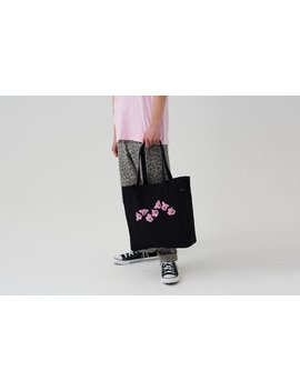 Lazy Oaf Wavy Cat Tote Bag by Lazy Oaf
