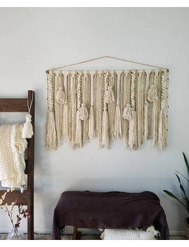 "48"" Large Macramé Wall Hanging/Large Woven Wall Hanging/Large Yarn Wall Hanging/Large Yarn Tapestry/Tassel Wall Hanging by Up The Wallflower"