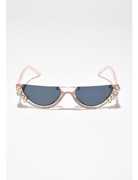 Sweet Crystal Vizion Half Sunglasses by Joia
