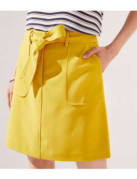Tie Waist Shift Skirt by Loft