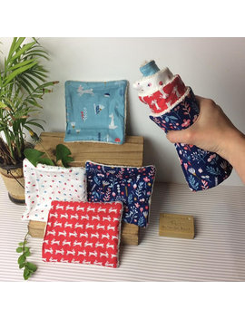 4x Unpaper Towels, Face, Baby Wipes, Eco Friendly, Washable Wipes, Absorbent, Reusable, Multipurpose,  Kitchen Roll Alternative, Zero Waste by Earth Kind Creations
