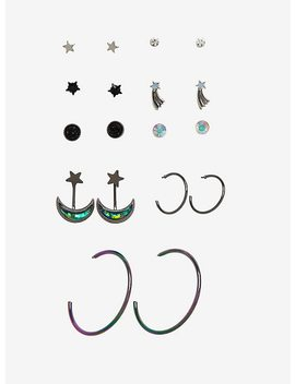 Blackheart Galaxy Earring Set by Hot Topic