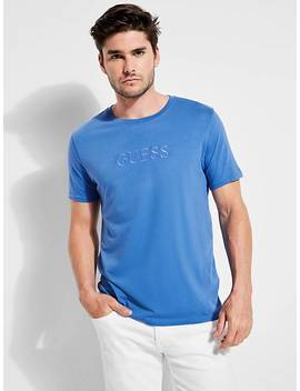 Tone On Tone Logo T Shirt by Guess