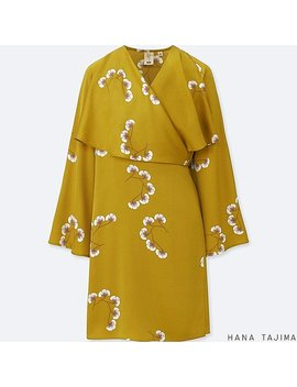 Women Hpj Wrap Printed Long Sleeve Tunic by Uniqlo
