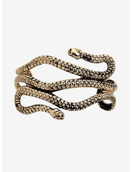 Blackheart Gold Snake Cuff Bracelet by Hot Topic