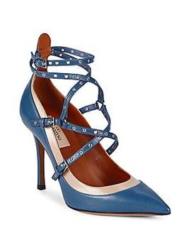 Suede Lace Up Pumps by Valentino Garavani