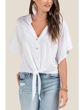 Breanna Front Tie Top by Francesca's