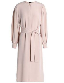 Belted Washed Silk Shirt Dress by Joseph