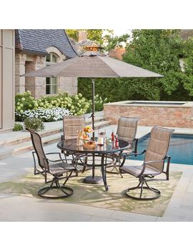 Statesville Pewter 5 Piece Aluminum Outdoor Dining Set by Hampton Bay