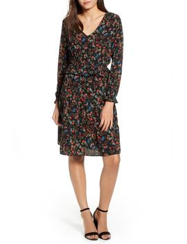 Floral Peplum Dress by One Clothing