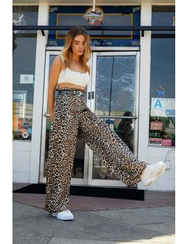 Animal Instincts Wide Leg Pants by Nasty Gal