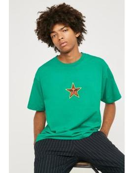 Obey Star Face Green Short Sleeve T Shirt by Obey