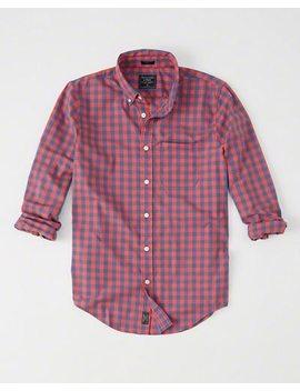 Poplin Overhemd Met Stretch En Een Lange Pasvorm by Abercrombie & Fitch
