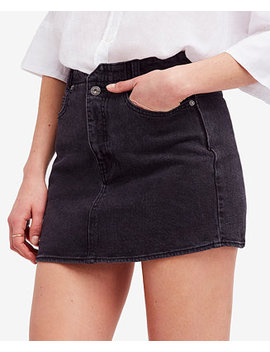 She's All That Denim Mini Skirt by Free People