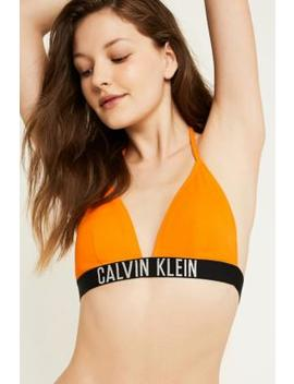 Calvin Klein Intense Power Orange Triangle Bikini Top by Calvin Klein