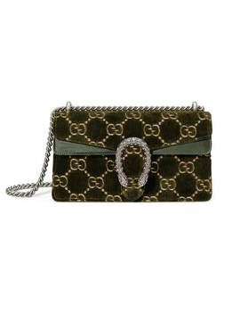Gucci Green Dionysus Gg Small Velvet Shoulder Baghome Women Gucci Bags Shoulder Bags by Gucci
