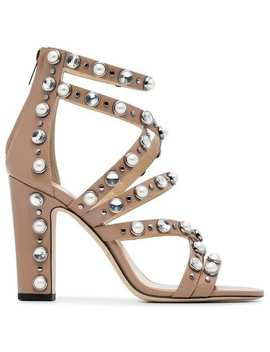 Jimmy Choo Pink Jewel Moore 100 Leather Sandalshome Women Jimmy Choo Shoes Sandals by Jimmy Choo