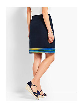 Embellished Hem A Line Skirt by Talbots