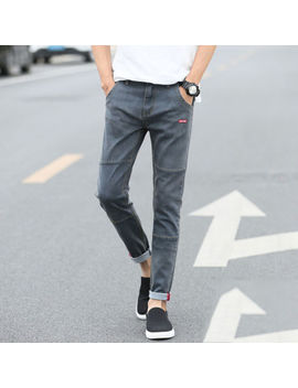 Moda Hombre Informal Slim Fit Pantalones Jeans Ajustados Pantalones Lápiz Largo Harlan by Ebay Seller