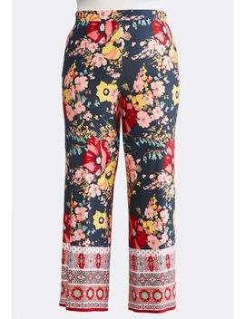 Plus Petite Summer Floral Palazzo Pants by Cato