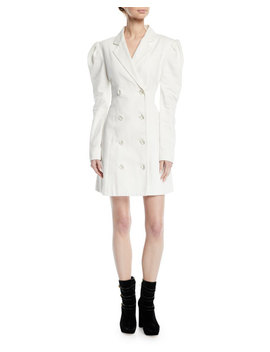 Leap Of Faith Puff Sleeve Cotton Blazer Dress by Maggie Marilyn