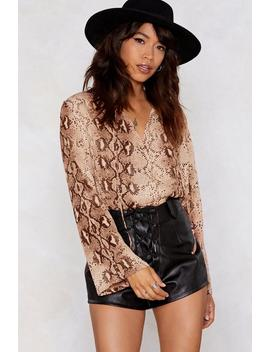 Snakes And Ladders Wrap Top by Nasty Gal