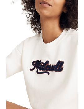 Embroidered Varsity Sweatshirt by Madewell