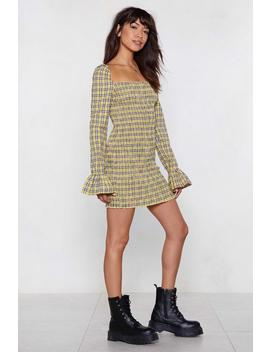 Plaid Influence Mini Dress by Nasty Gal