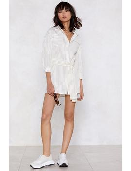 Mean Business Striped Dress by Nasty Gal