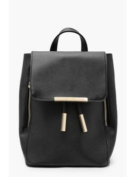 Crosshatch & Zips Rucksack by Boohoo