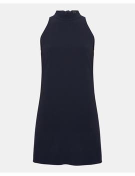 Crepe Clean Halter Day Dress by Theory