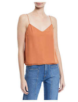 Sonya Silk V Neck Camisole by Veronica Beard