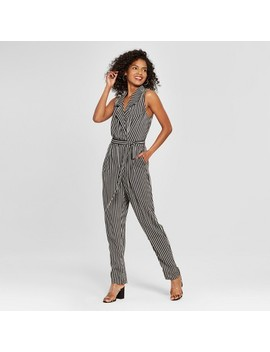 Women's Striped Sleeveless Jumpsuit   Who What Wear™ Black/White by Shop All Who What Wear