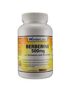 Berberine Cholesterol Blood Sugar Supplement: Hcl 500+ Triple Defense Gluten & Gmo Free Maintenance For Glucose, Metabolism, Heart & Immune System Health   Anti Inflammatory Cinnamon... by Wonder Laboratories