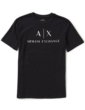 Ax Signature Logo Crew Neck Short Sleeve Tee by Generic