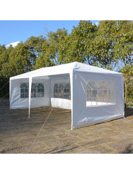 New 10'x20' White Canopy Party Outdoor Gazebo Wedding Tent 4 Removable Walls by Ebay Seller