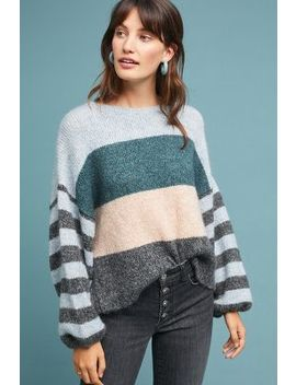 Colorblock Striped Sweater by Sundays