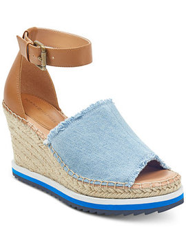 Yavino Espadrille Platform Wedge Sandals by Tommy Hilfiger