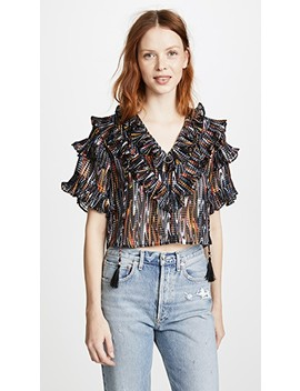 Marble Ruffle Blouse by Opening Ceremony