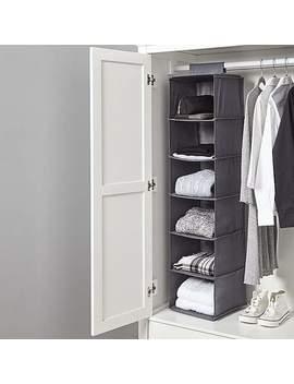 Hanging Grey Organiser by Dunelm