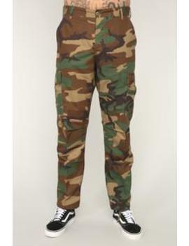 Thomas Cargo Pants   Brown/Combo by Fashion Nova